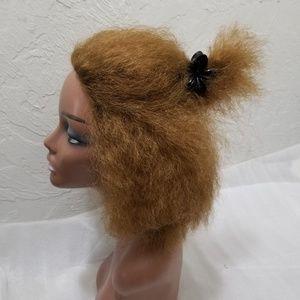 Natural Black Blonde Short Kinky Wig Hair